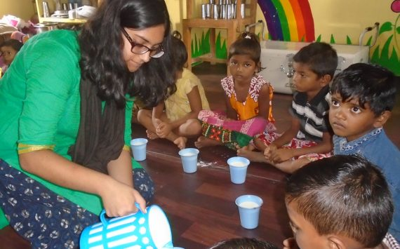 Solidarity Dinner with the most disadvantaged children in India